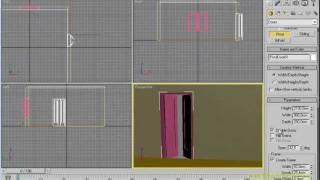 3dsMAX  Урок 15. Создаём Стены, окно, дверь.