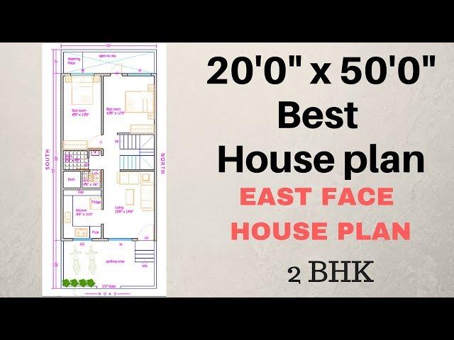 20 x 50 East Face Plan Explain in Hindi