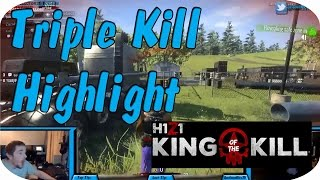 Triple kill with just a Magnum in H1Z1: King of the Kill