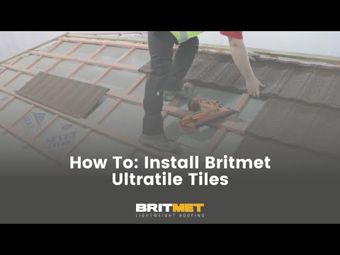 How to tile a roof with lightweight metal roof tiles: Installing Ultratile