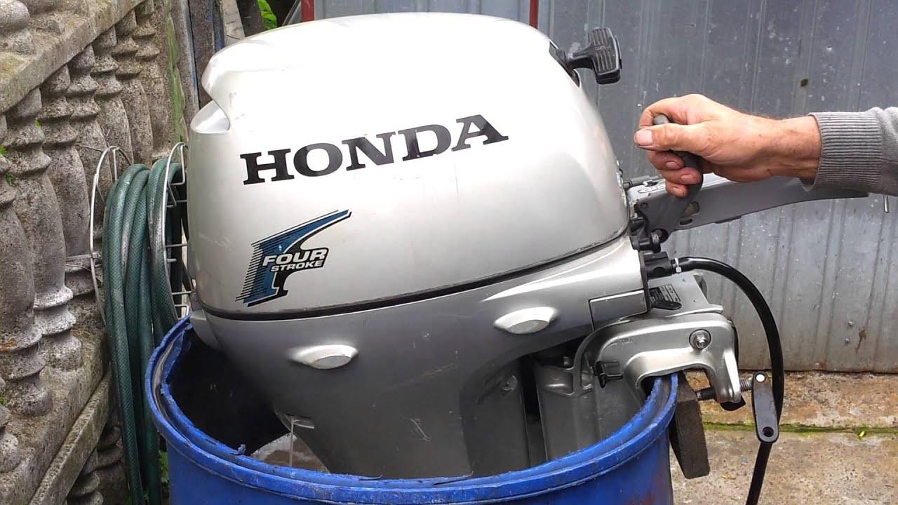 Honda 8 hp outboard motor 2006r. four stroke ( 4-SUW ) - YouTube