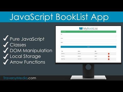 JavaScript BookList App   No Frameworks