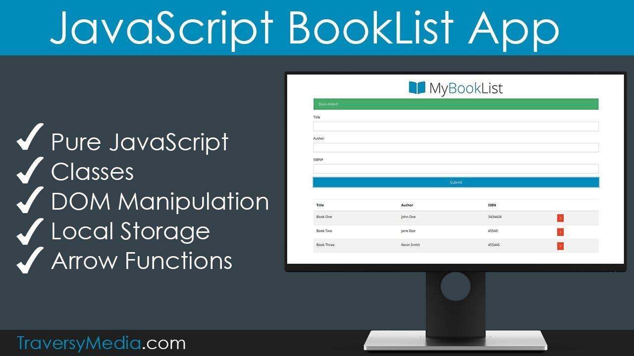 JavaScript BookList App | No Frameworks