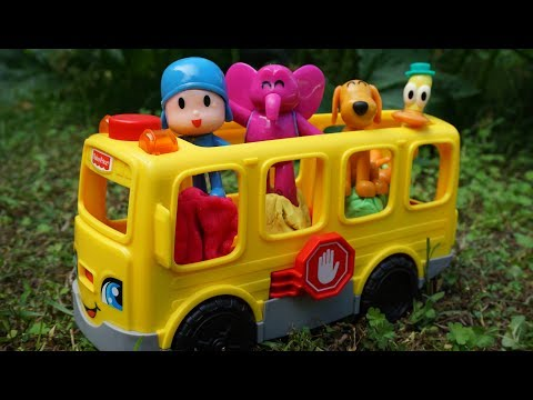 Pocoyo The Wheels on the Bus - Toys Nursery Rhymes Song Compilation