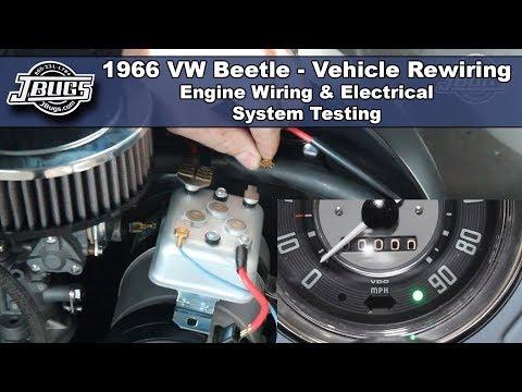 jbugs - 1966 vw beetle - engine wiring & electrical system testing - youtube  youtube