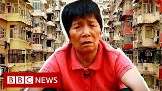 Hong Kong's cardboard collecting grannies - BBC News