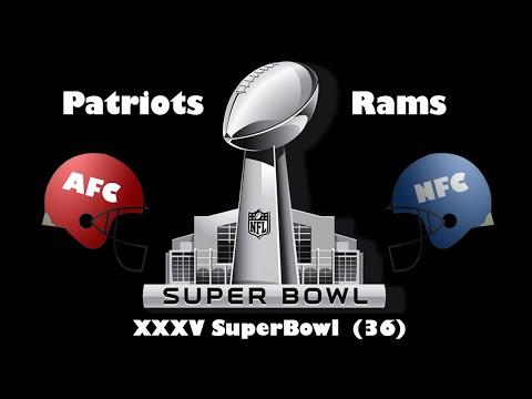 2002 Super Bowl XXXVI Rams Vs Patriots