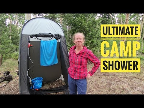 Portable Camping Shower System | For Better or Bikes thumbnail