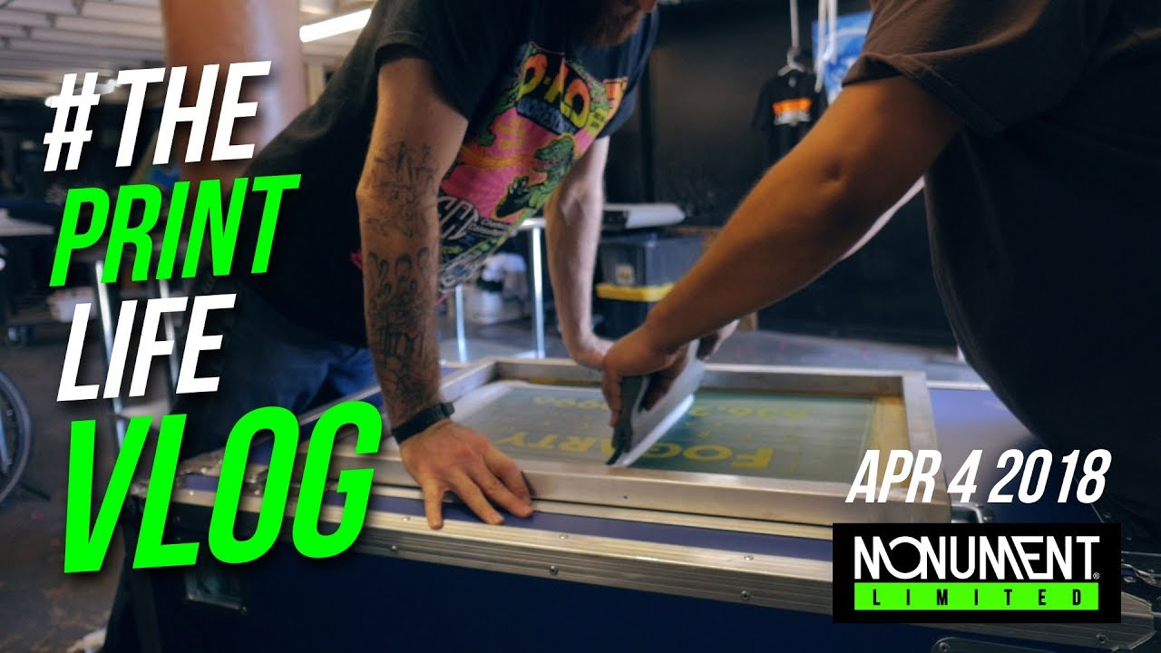 Screen Printing Vlog Printing T Shirts Live At An Event In