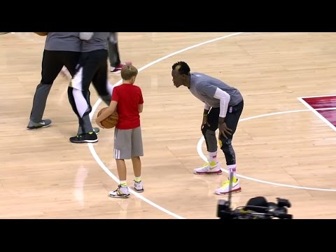 Dennis Schroder Plays 1-on-1 with Mike Budenholzer's Son