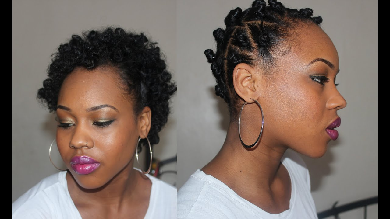 29 Fluffy Afro Bantu Knot Out On Short Natural Hair