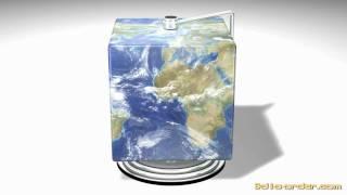 3D Square World Globe
