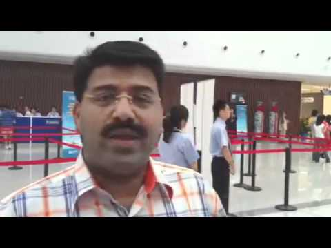 Agnelorajesh and group at Tianjin sea port to boar...