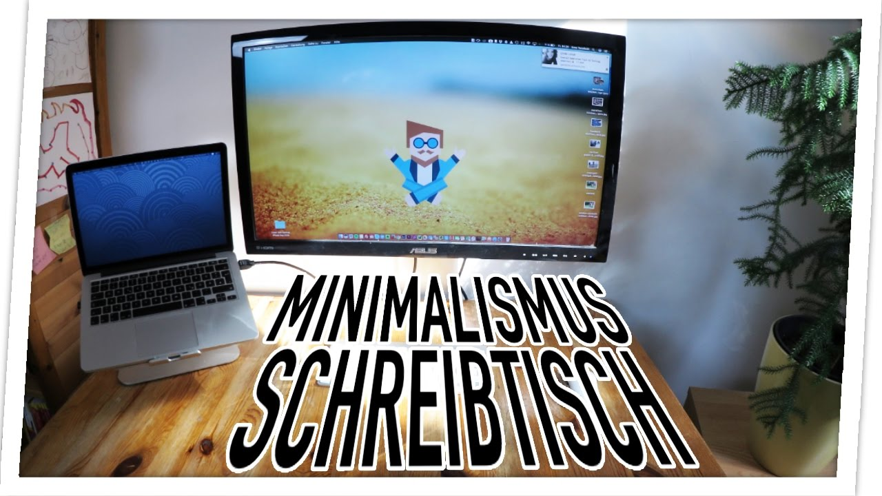 Minimalistischer DIY Schreibtisch & Gedanken zu Minimalismus - YouTube