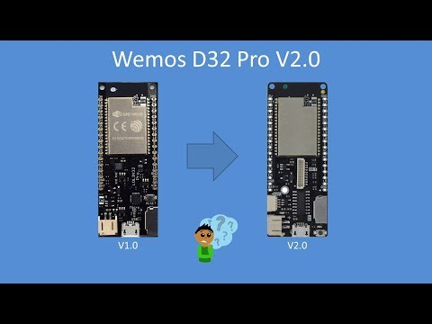 Tech Note 107 - Lolin D32 Pro V2 (compared to V1) - YouTube