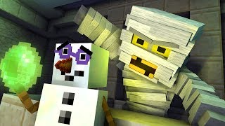 Monster School: Curse of the Mummy - Halloween Minecraft Animation