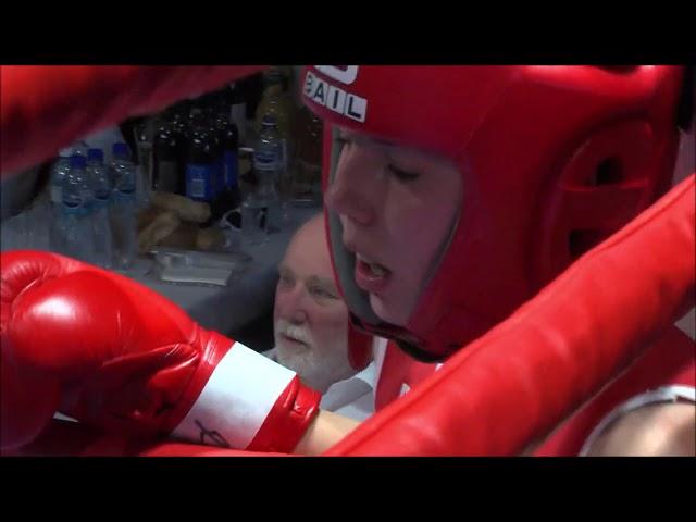 BC Star Plzeň - MČR v boxu 2019 - Lenka Bernardová x Alexandra Halajová