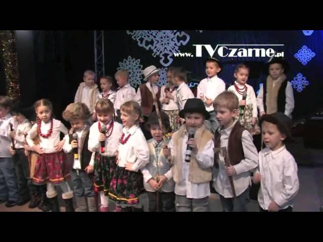 Koncert kolęd i pastorałek przedszkolaków z Przedszkola Gminnego - Czarne 17 stycznia 2013 r.