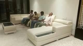 U shape sectional recliner sofa