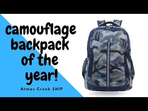 32 Ltr Printed Casual Laptop Unisex Backpack Camo AC SHIP | Atmos Creek