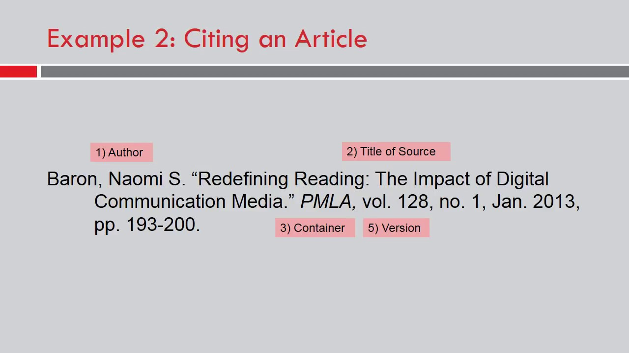 mla works cited article