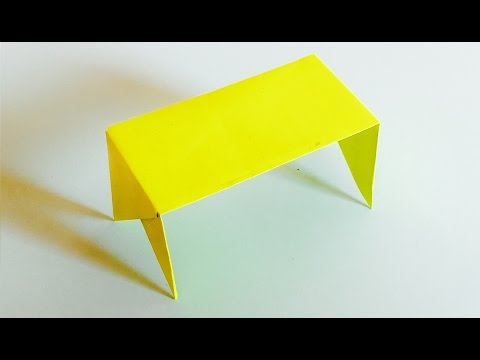 How to make an easy Origami table with paper | Paper Table making ideas