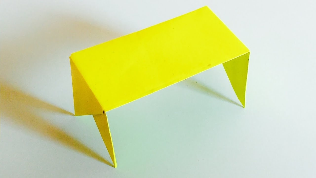 Merveilleux How To Make An Easy Origami Table With Paper | Paper Table Making Ideas