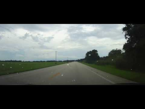 Driving on Florida State Road 78 in Glades and Okeechobee Counties