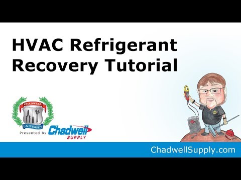HVAC Refrigerant Recovery Process Demonstration