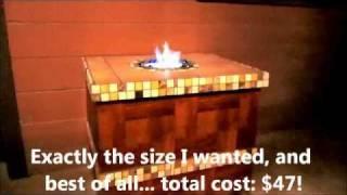 Home Built Ethanol Fire Pit Table