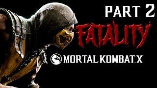 Играем в Mortal Kombat X - Фаталити (PS4) часть 2