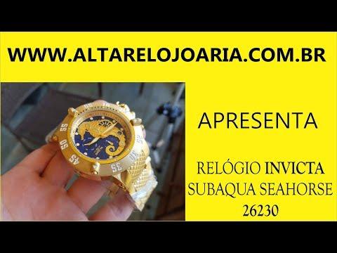 Relógio InvictaSubaqua SEAHORSE 26230 movimento suíço Calibre Z60