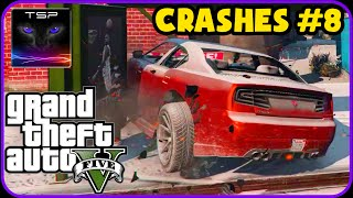 GTA V - CRASHES & ACCIDENTS (Damage + Snow Mod) #8