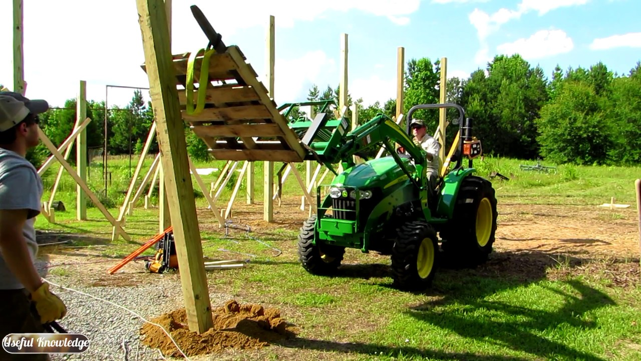 Pole Barn Construction (Part 1: Setting Posts) | Useful Knowledge
