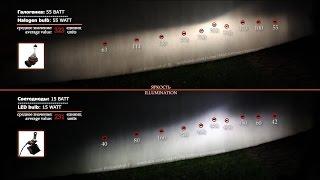 Светодиодный ближний свет (самодельный) | LED low beam (handmade)(Самодельная светодиодная лампочка в ближний свет фар. Она состоит из двух светодиодов Cree XM-L2 T6, двух теплопр..., 2014-11-28T10:21:56.000Z)