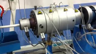 Plastik Boru Makinası Makinaları Masfen Ekstruder Extruder Çekici Pipe Machinery Kalibre
