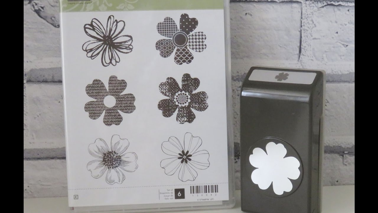 Quick Tip How To Use Flower Shop Stamp With Pansy Punch Youtube