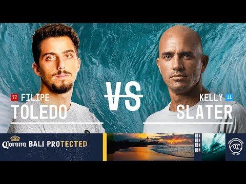 Filipe Toledo Vs. Kelly Slater - Quarterfinals, Heat 3 - Corona Bali Protected 2019