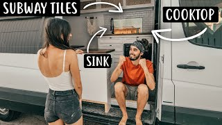 VAN LIFE: Building a Kitchen in Off-Grid Tiny House