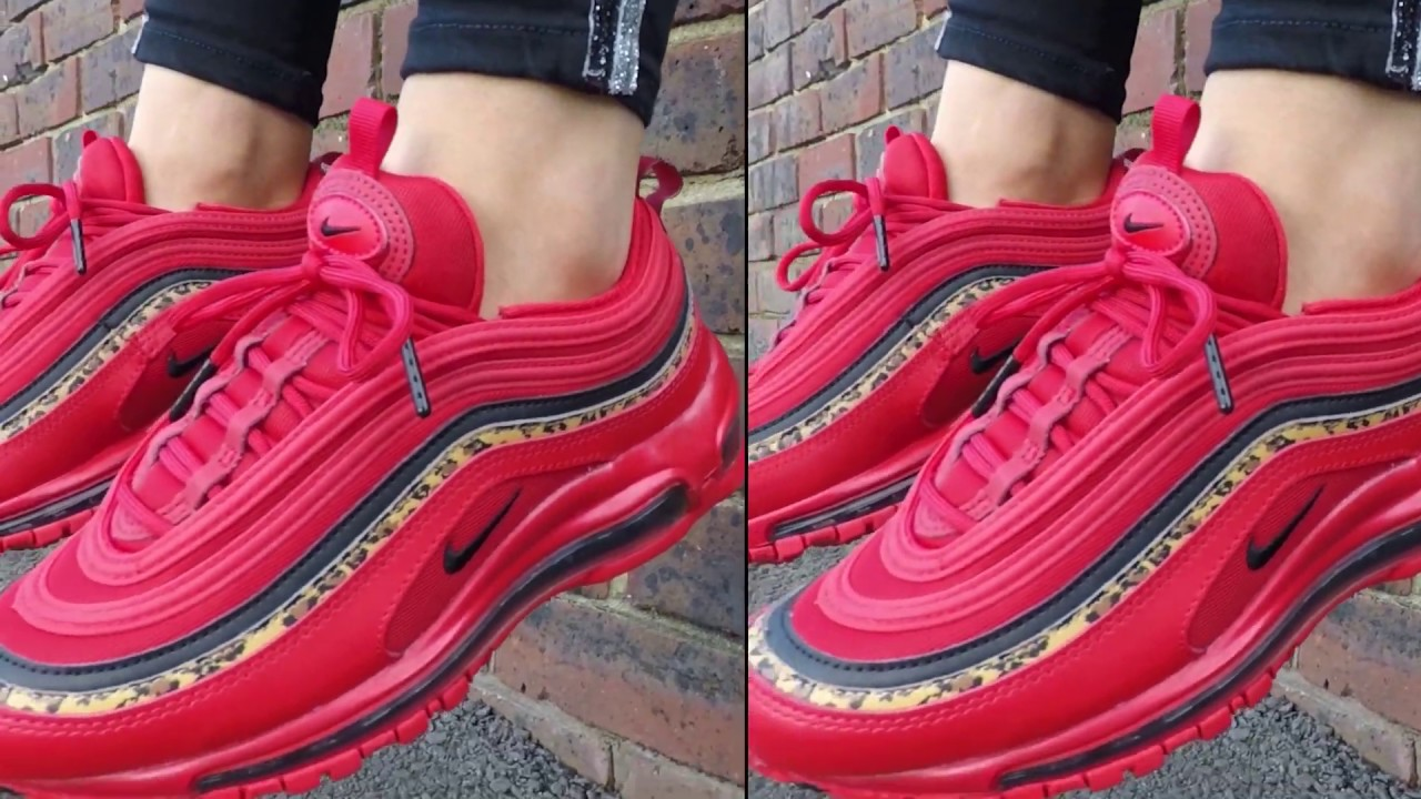 Nike Air Max 97 Womens Trainers Red Leopard Pack