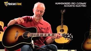 Gibson Hummingbird Pro Cutaway Acoustic-Electric Guitar, demo'd by Don Ruffatto