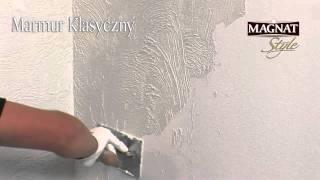 Jak uzyskać efekt marmuru na ścianie - Marmur Klasyczny Magnat Style - film instruktażowy