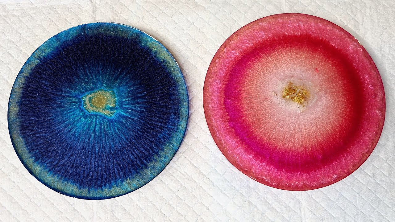 #918 Testing Colours In These Resin Coasters For My Next BIG Project