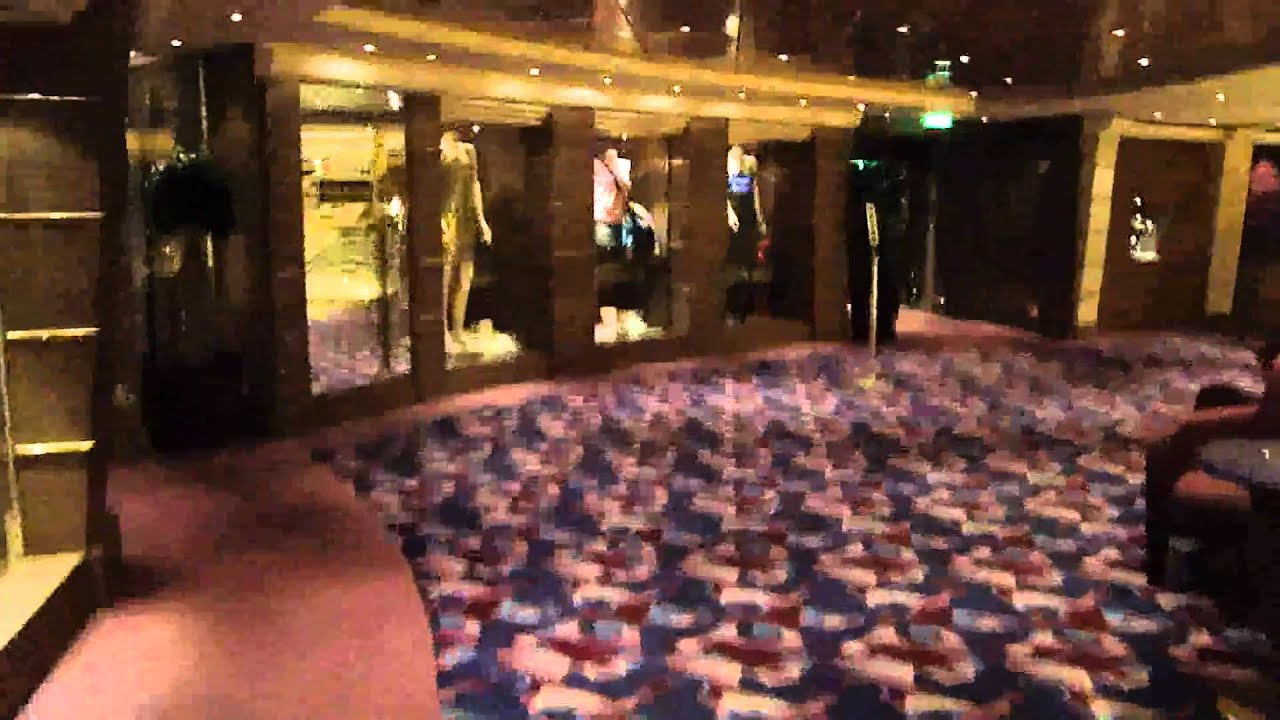 msc orchestra deck 6 violino duty free shop youtube. Black Bedroom Furniture Sets. Home Design Ideas