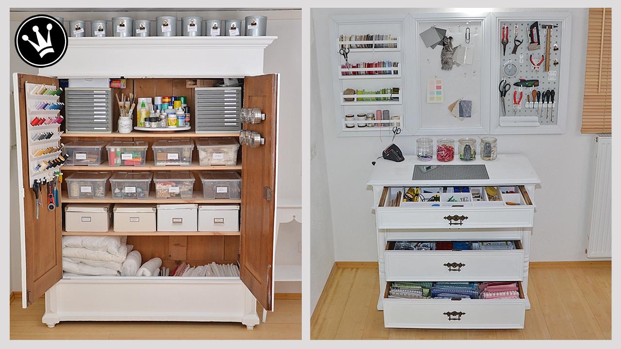 organisation und ordnung von diy material und werkzeug im arbeitszimmer makeover i teil 2. Black Bedroom Furniture Sets. Home Design Ideas