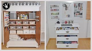 Organisation und Ordnung von DIY-Material und Werkzeug im Arbeitszimmer - MAKEOVER I Teil 2