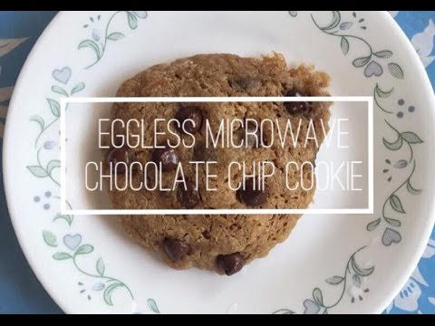 Eggless Microwave Chocolate Chip Cookie! | Christina QC