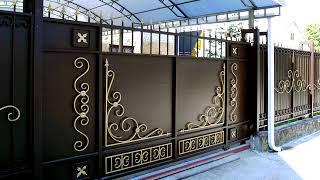 видео Ворота в частный дом