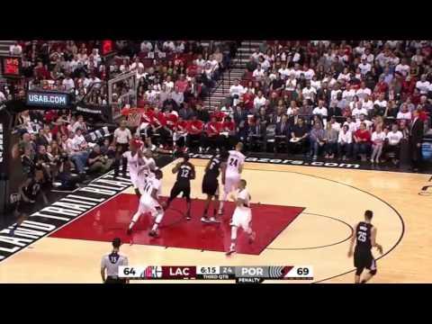 LA Clippers vs Portland Trail Blazers. Game #6. PlayOffs NBA 2016