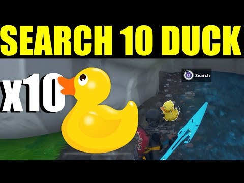 """Fortnite """"Search Rubber Duckies"""" Location ALL 10 Week 3 Challenge Guide/ Tutorial"""